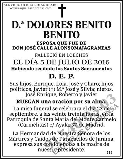 Dolores Benito Benito